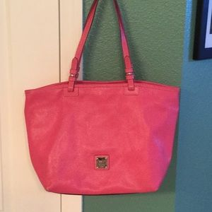 Dooney and Bourke pink leather tote